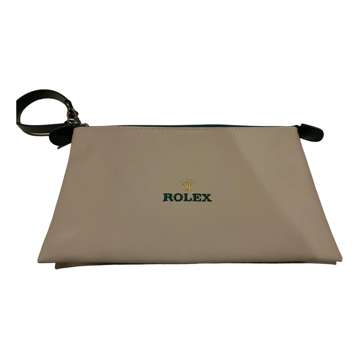 Rolex \N Kleinlederwaren in  Beige Leinen