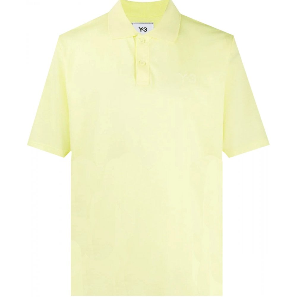 Y-3 Chest Logo Polo Colour: YELLOW, Size: LARGE