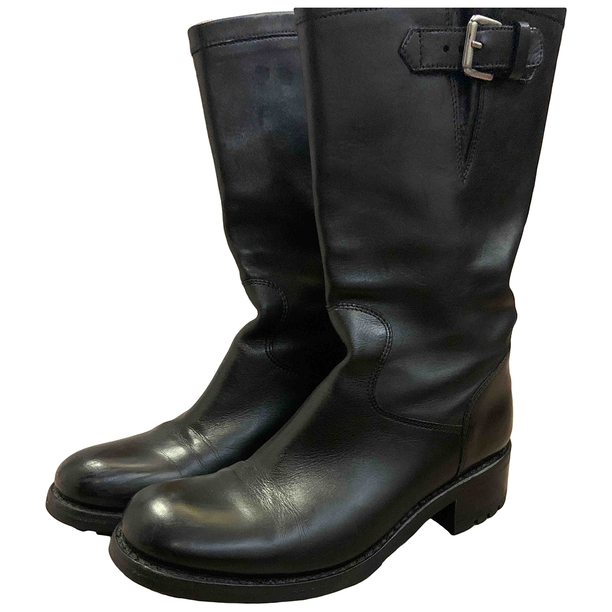 Free Lance \N Black Leather Boots for Women 37.5 EU