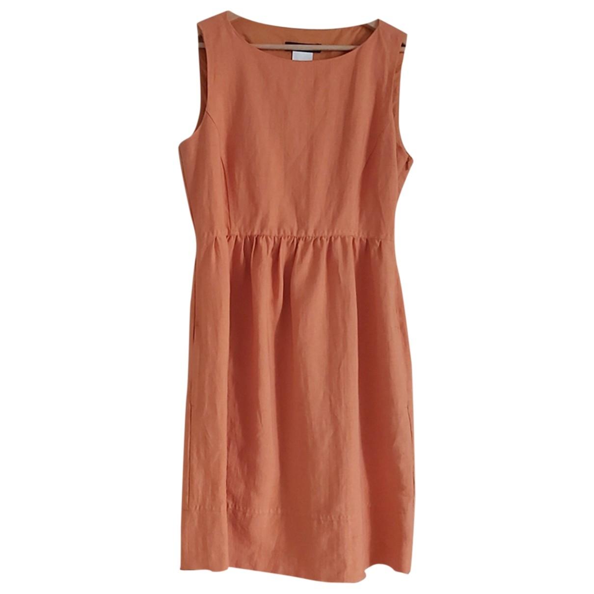 Max Mara Weekend \N Kleid in  Orange Leinen