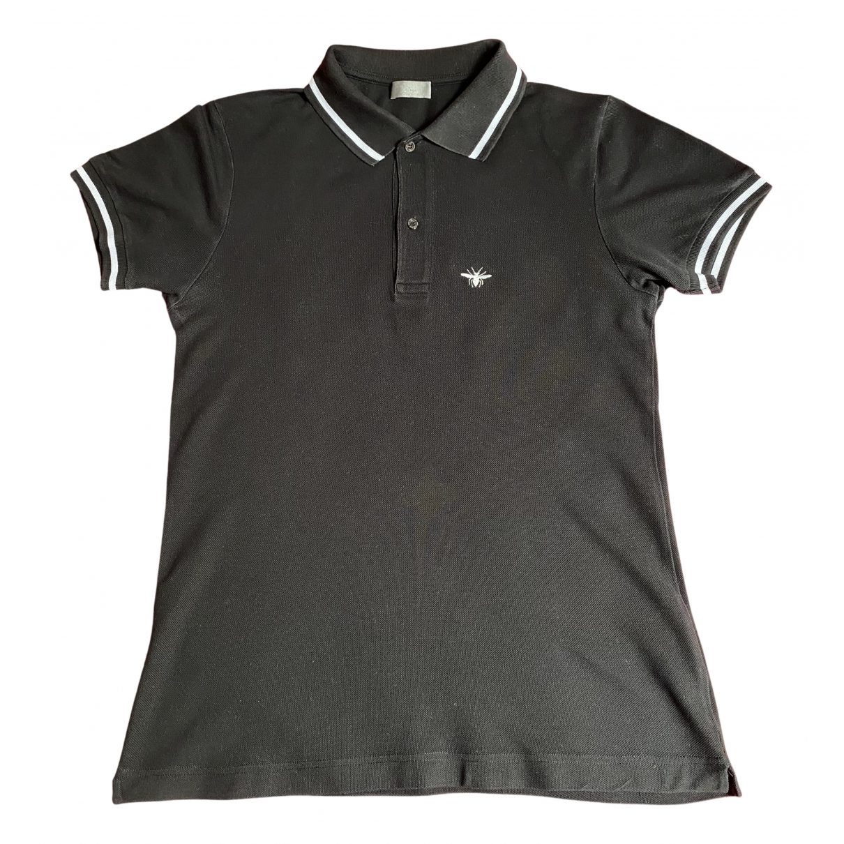 Polo en Algodon Negro Dior Homme