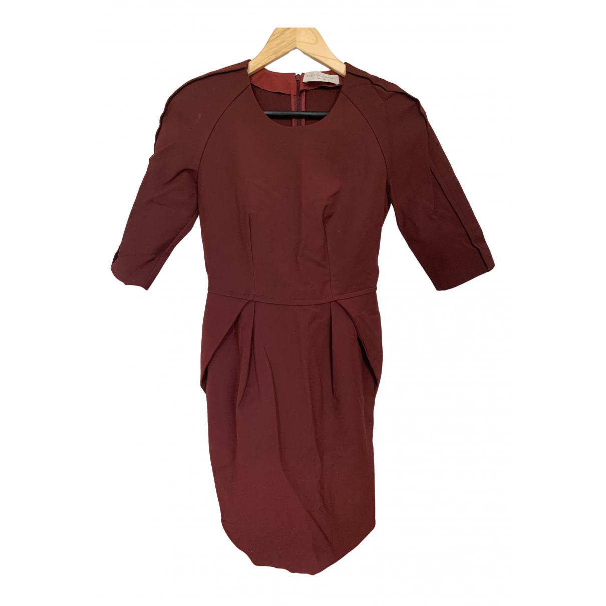 Stella Mccartney \N Burgundy Cotton - elasthane dress for Women 8 UK