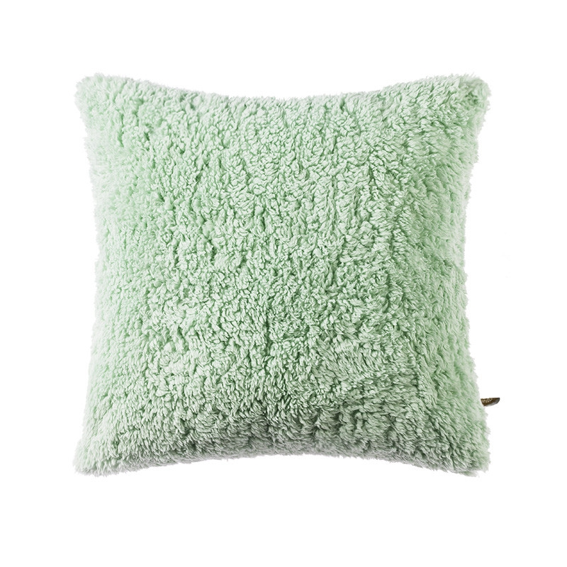 Solid Color Fluffy and Soft Plush Decorative Throw Pillow