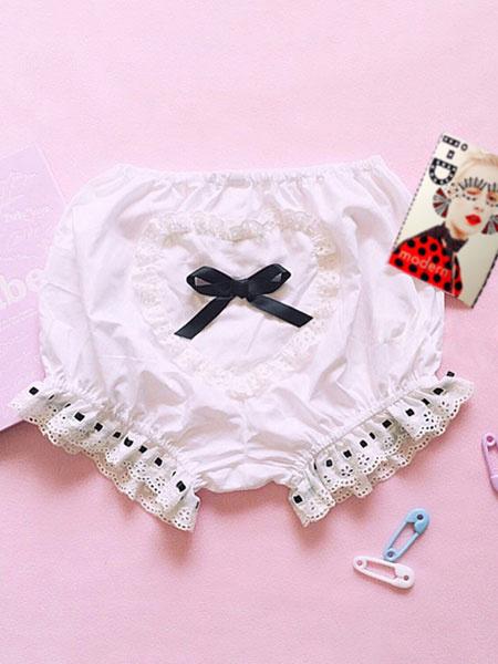 Milanoo Sweet Lolita Blommer con lazo Kawaii Lolita Shorts
