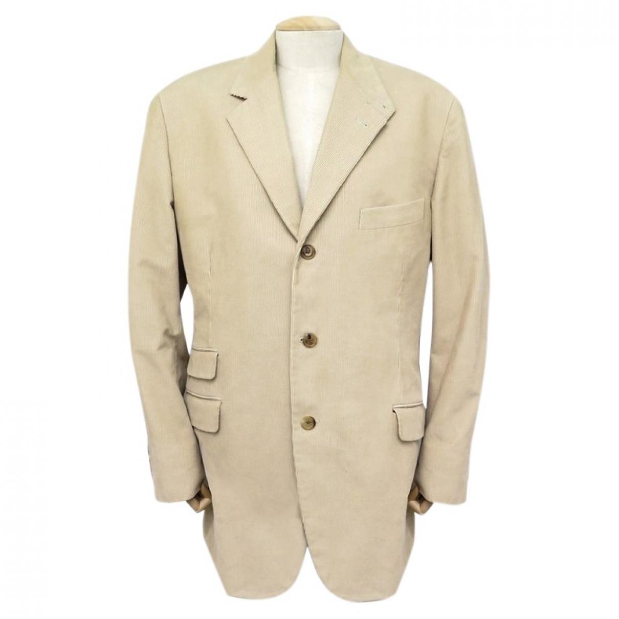 Hermès \N Beige Velvet jacket for Women L International
