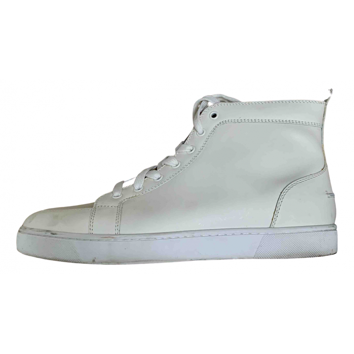 Christian Louboutin \N White Leather Trainers for Men 43 EU