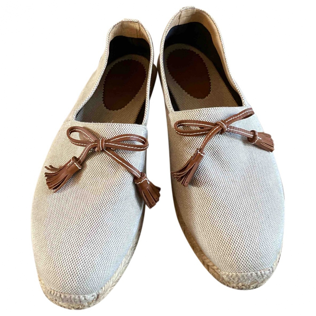 Christian Louboutin \N Beige Cloth Espadrilles for Men 41 EU
