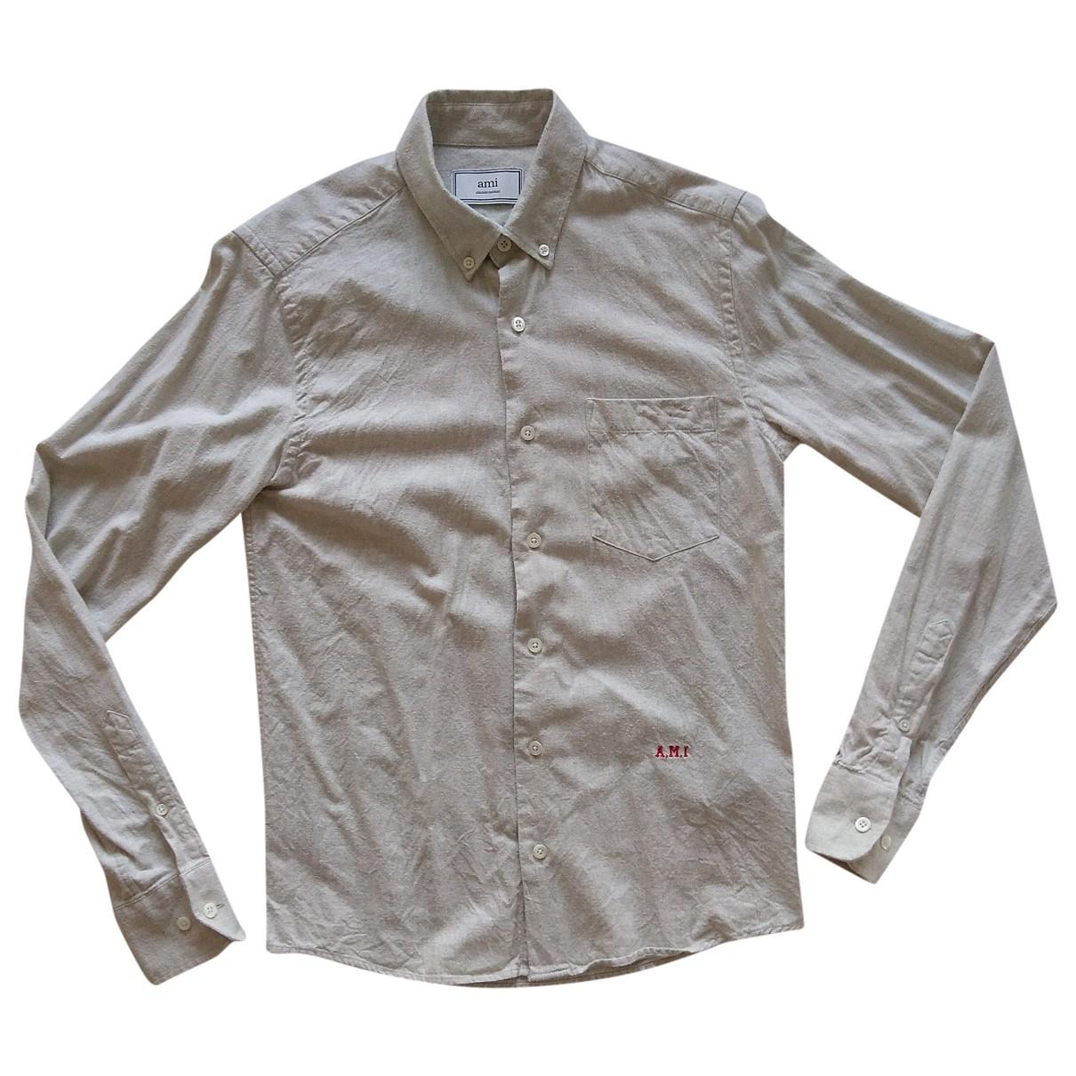 Ami \N Grey Cotton Shirts for Men 38 EU (tour de cou / collar)