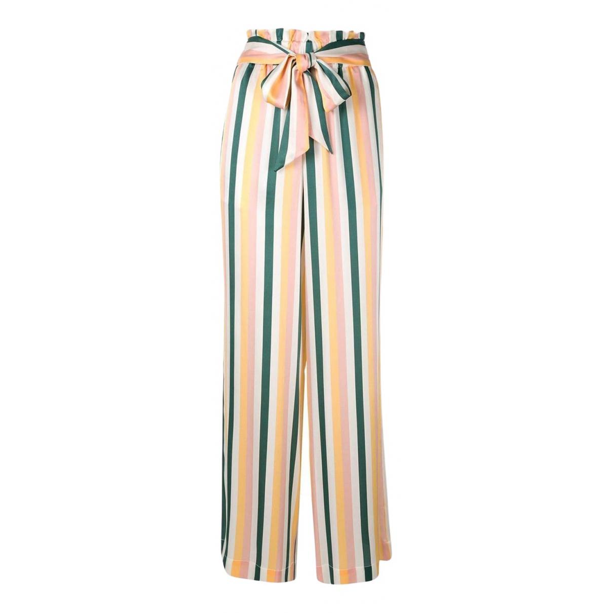 Asceno \N Multicolour Silk Trousers for Women M International