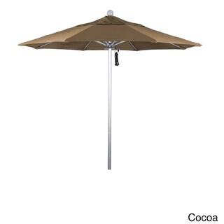 California Umbrella 7.5' Rd. Aluminum Frame, Fiberglass Rib Market Umbrella, Push Open,Anodized Silver Finish, Sunbrella Fabric (Cocoa)