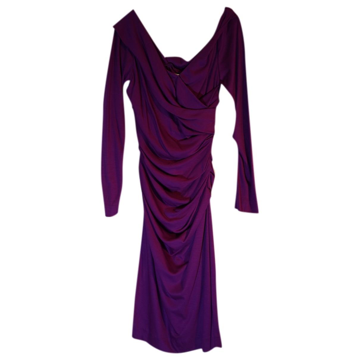Diane Von Furstenberg - Robe   pour femme en laine - violet
