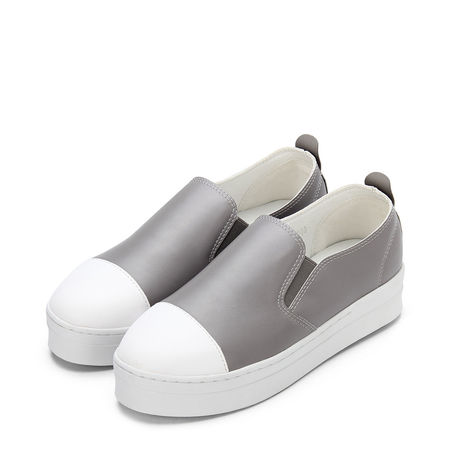 Yoins Grey Round Toe Slip-on Loafers