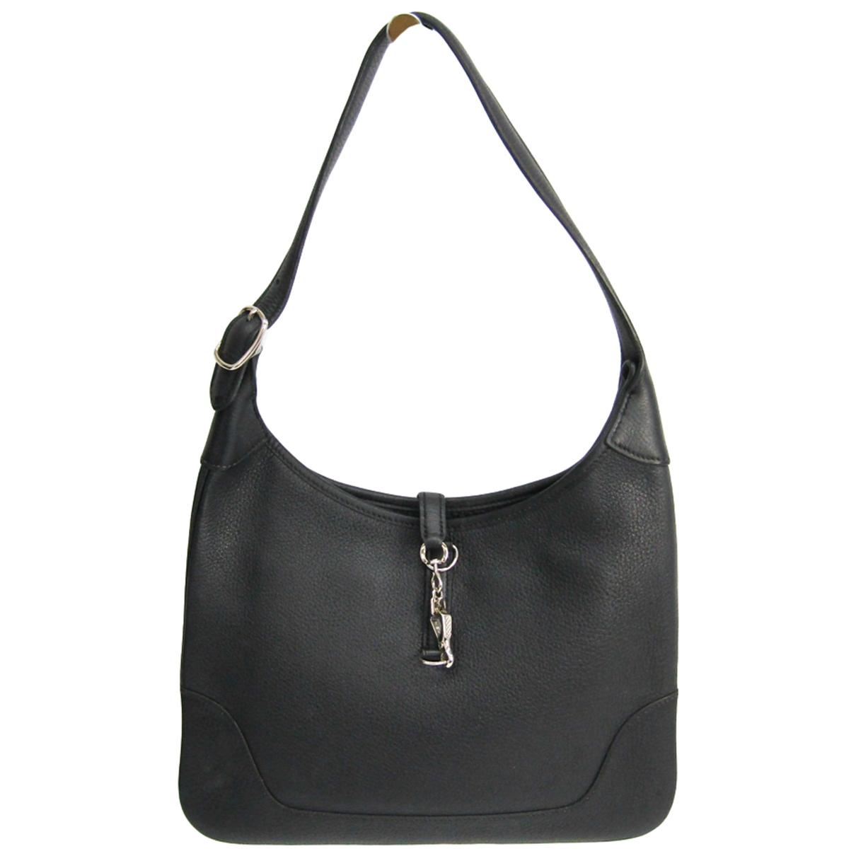 Hermès Trim Black Leather handbag for Women \N