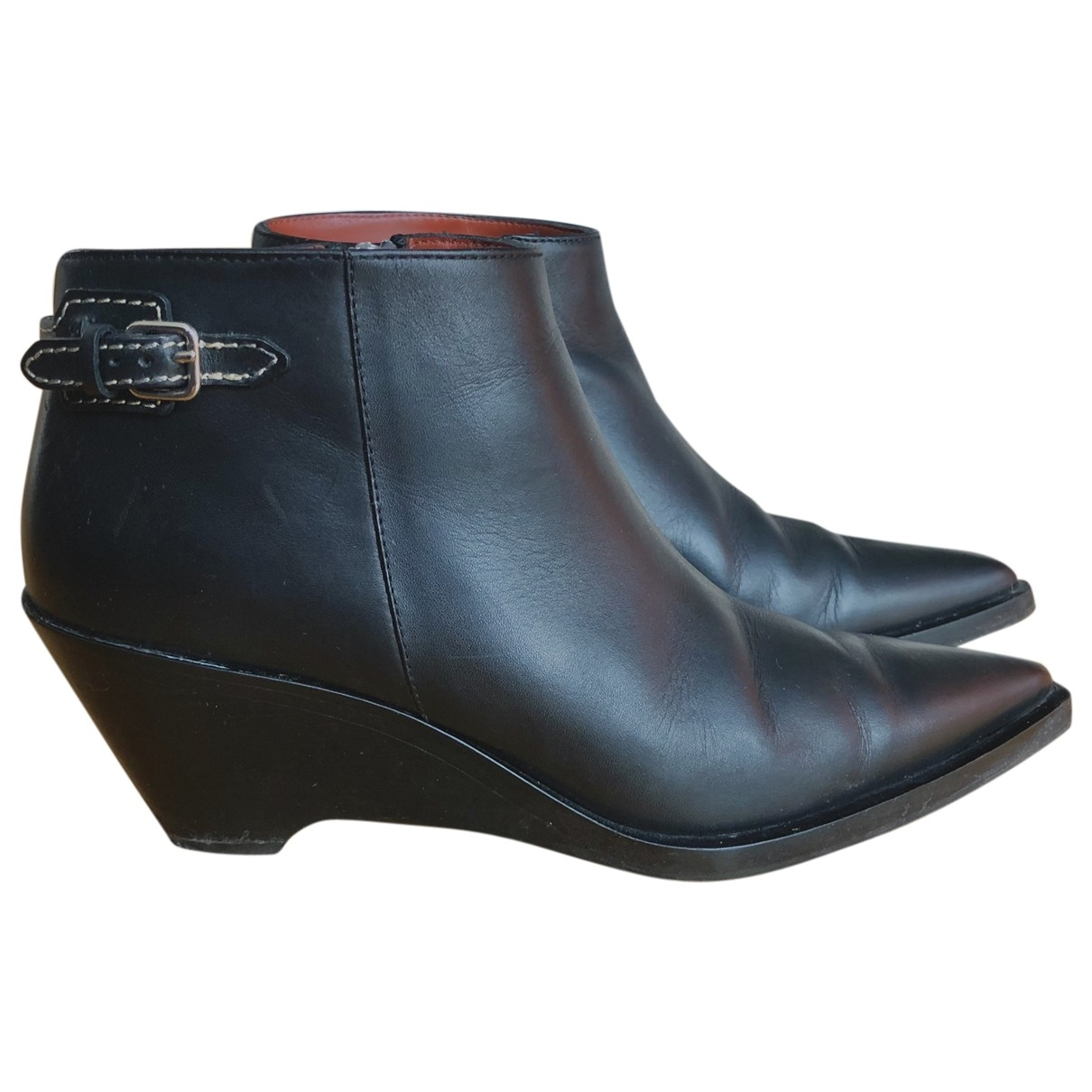 Acne Studios \N Black Leather Ankle boots for Women 37 EU