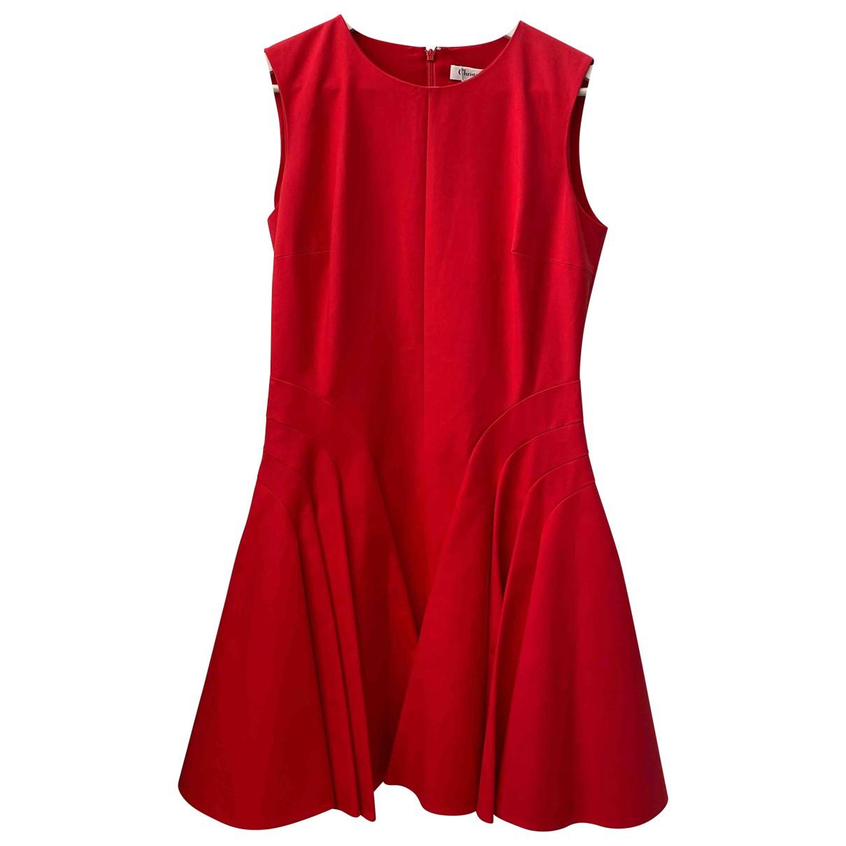 Dior - Robe   pour femme en soie - rouge