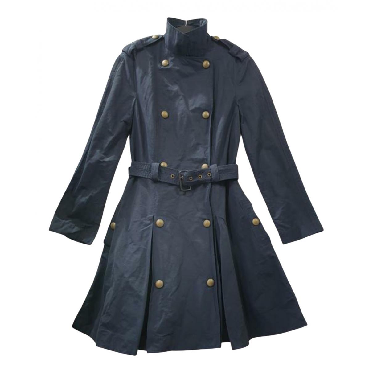 Lanvin \N Blue Cotton Trench coat for Women 38 FR