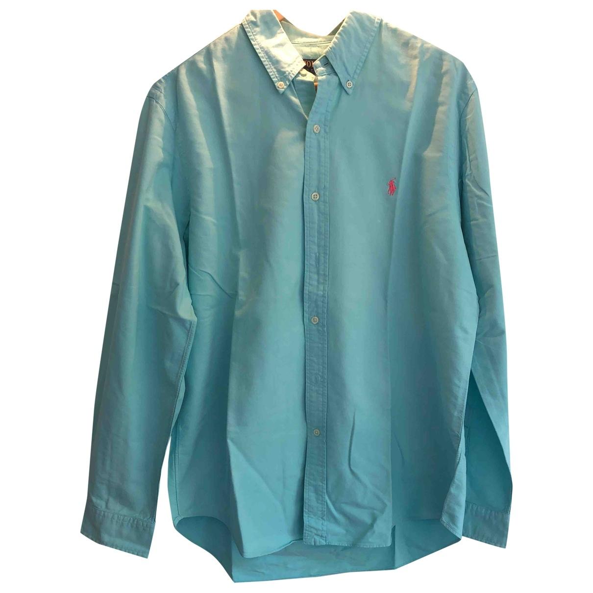 Polo Ralph Lauren - Chemises   pour homme en coton - turquoise