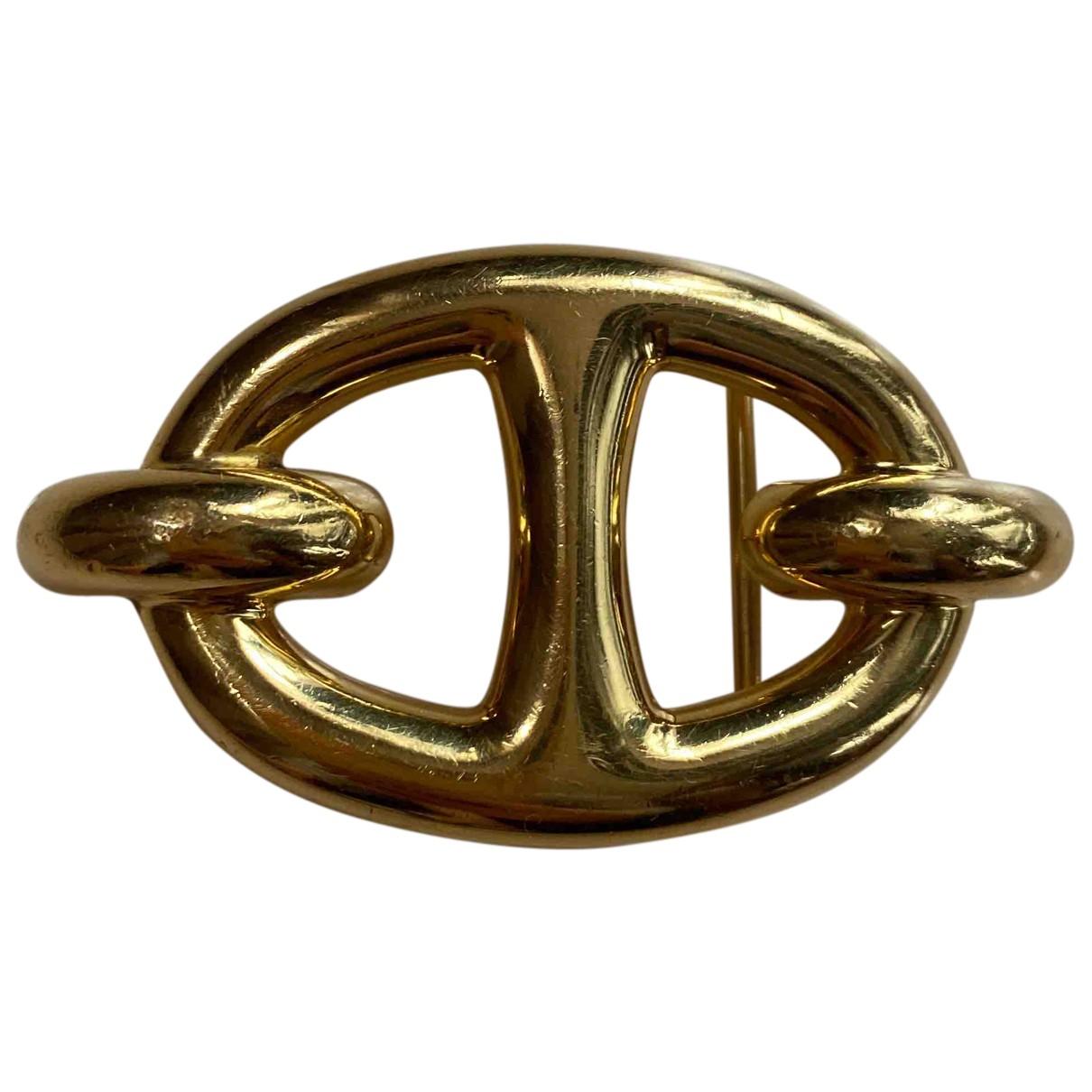 Hermes \N Anhaenger in  Gold Metall