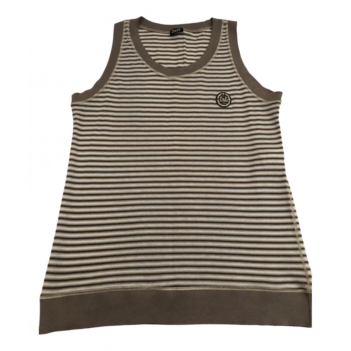 D&g - Tee shirts   pour homme en coton - marron