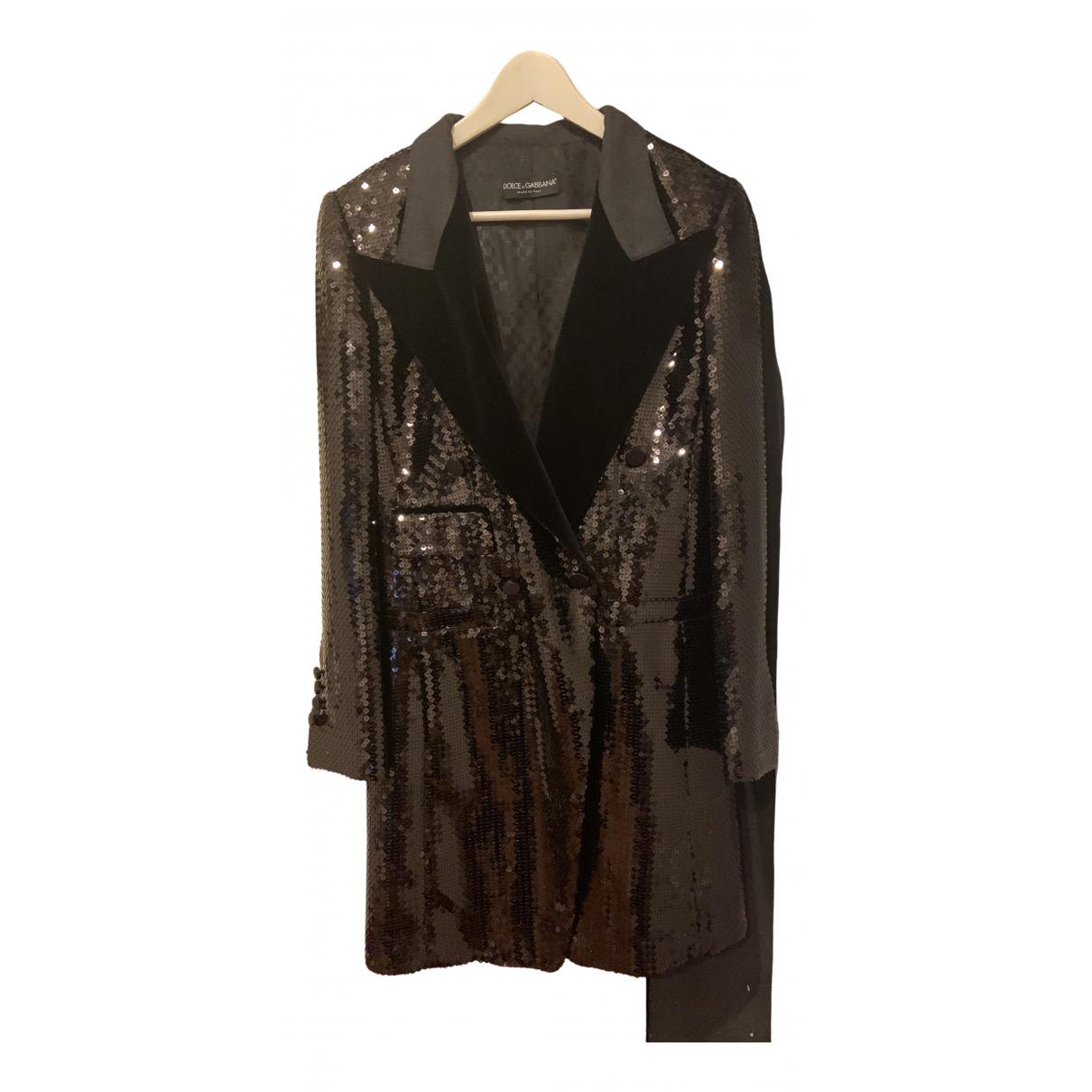 Dolce & Gabbana - Manteau   pour femme - noir