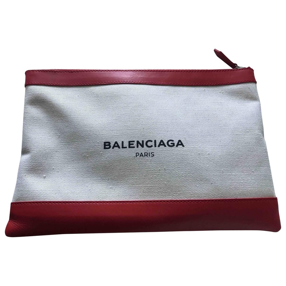 Balenciaga \N Clutch in  Weiss Leinen