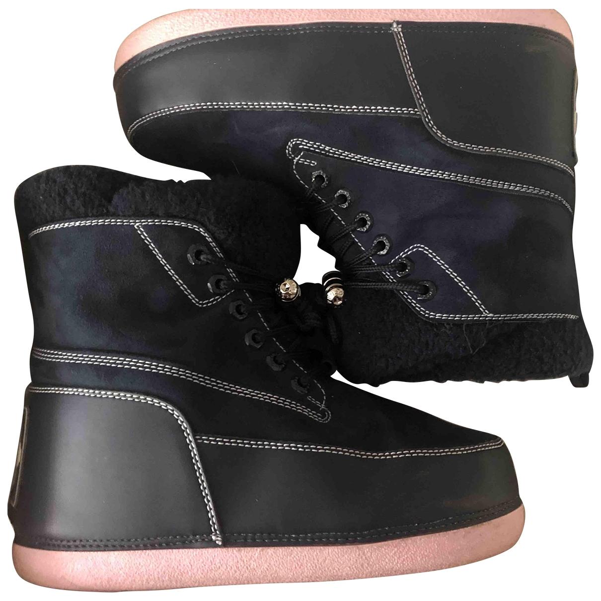 Kenzo - Boots   pour femme en suede - bleu