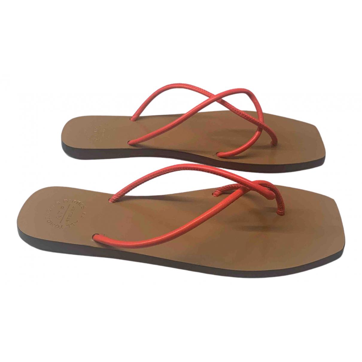 Atp Atelier - Sandales   pour femme en cuir - rouge