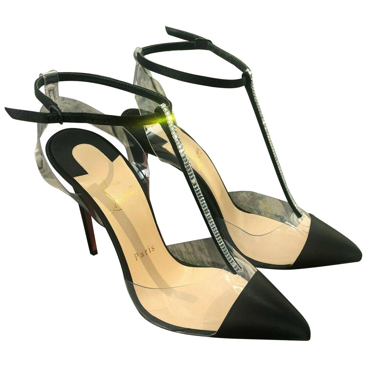 Christian Louboutin \N Black Leather Heels for Women 37 EU