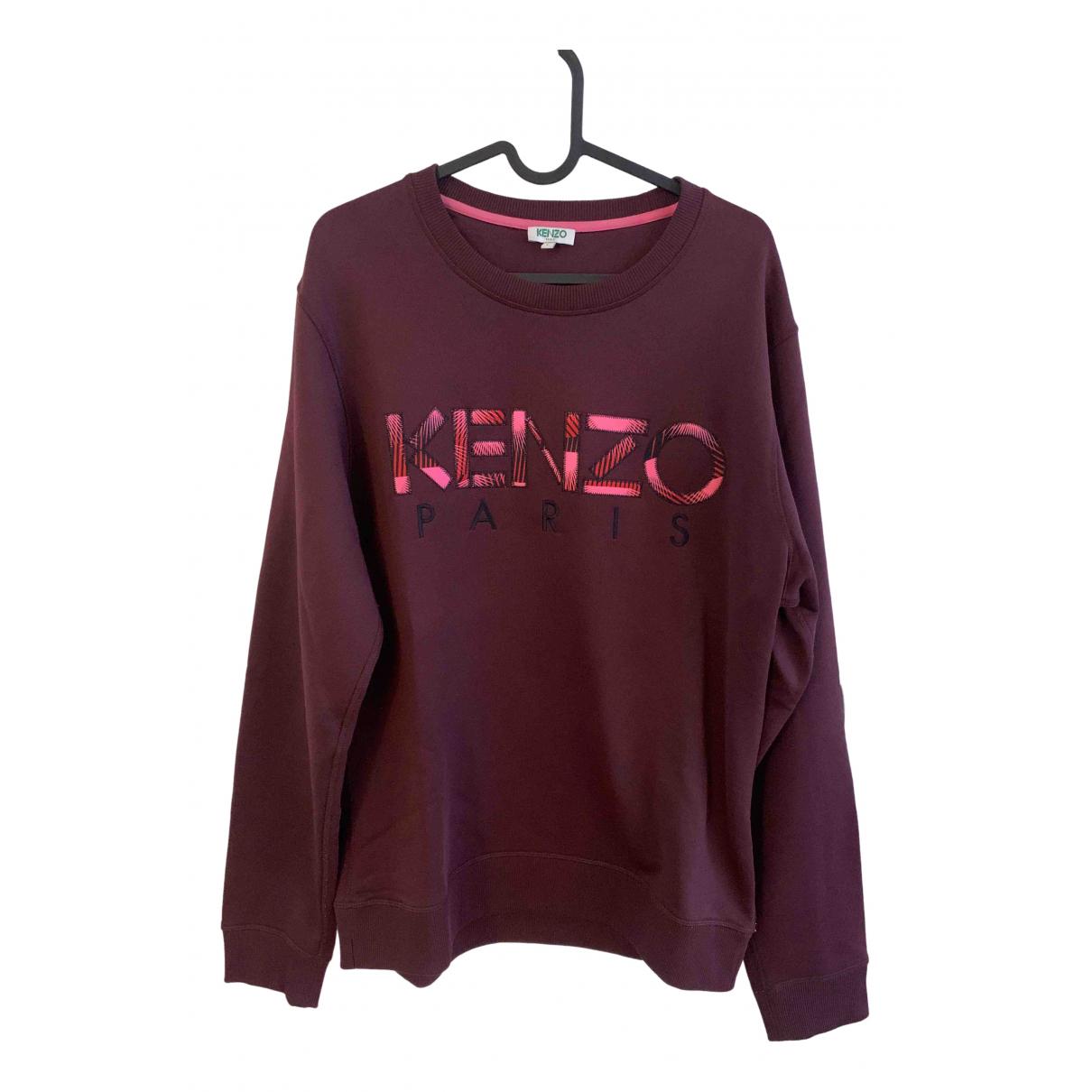 Kenzo \N Pullover.Westen.Sweatshirts  in  Bordeauxrot Baumwolle