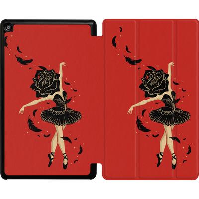 Amazon Fire HD 8 (2017) Tablet Smart Case - Black Swan von Enkel Dika