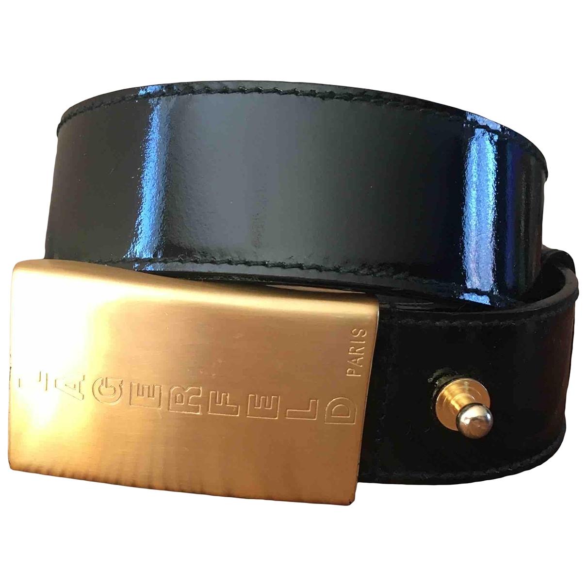 Cinturon de Charol Karl Lagerfeld