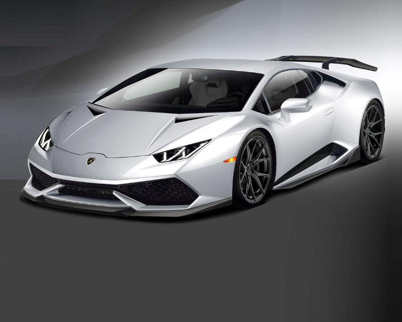 Vorsteiner 0901LOV Verona Edizione Aero Side Blades Carbon Fiber PP 2x2 Glossy Lamborghini Huracan 15-19