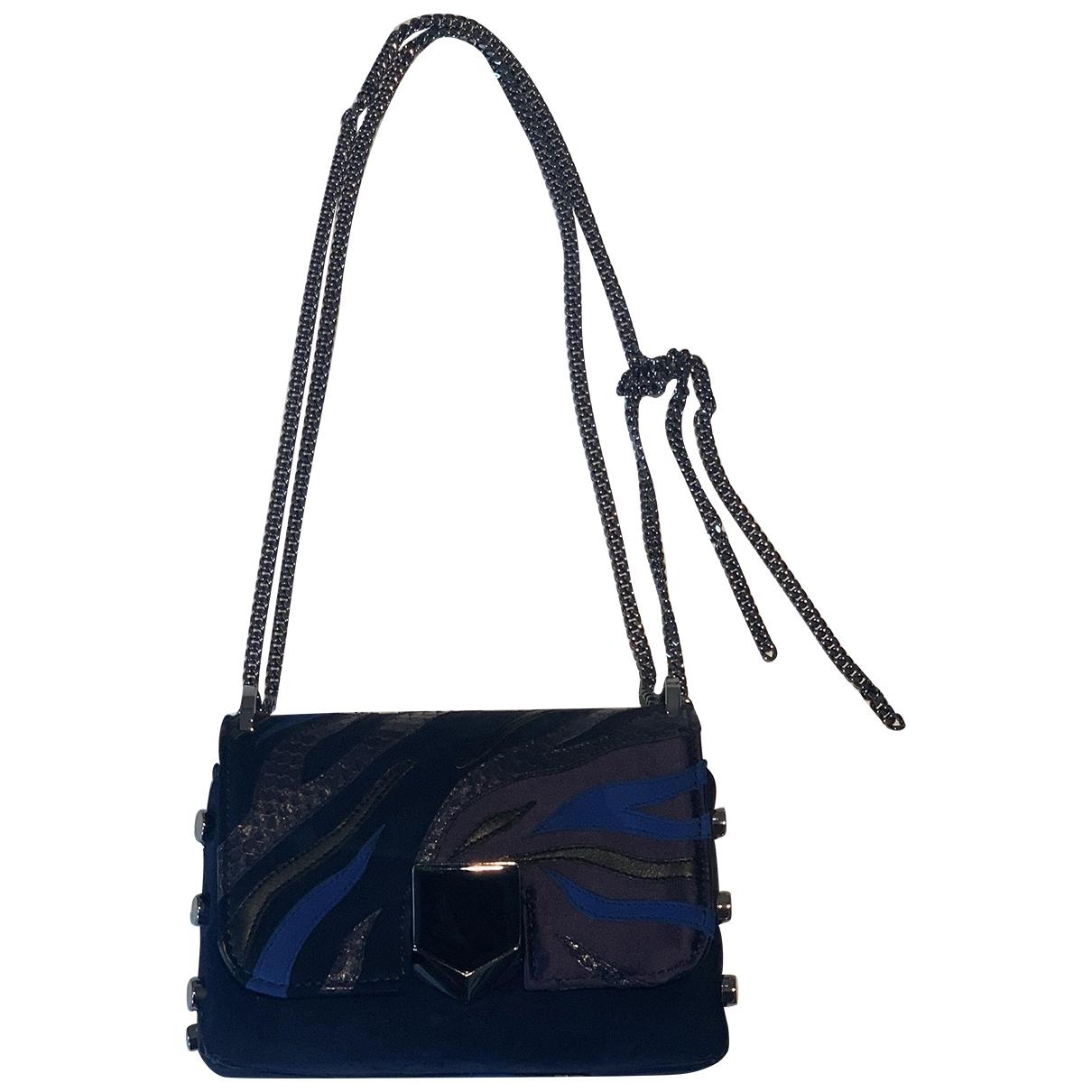 Jimmy Choo Lockett Blue Suede handbag for Women \N