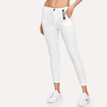Reine Jeans mit Tasche