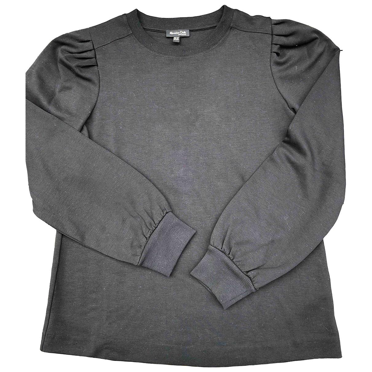 Massimo Dutti - Top   pour femme en coton - noir