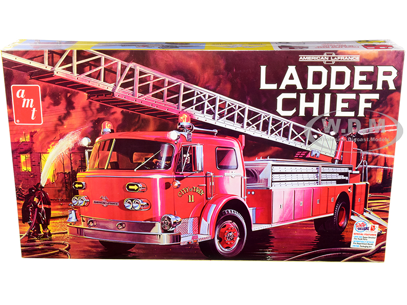 Skill 3 Model Kit American LaFrance Ladder Chief Fire Truck 1/25 Scale Model by AMT