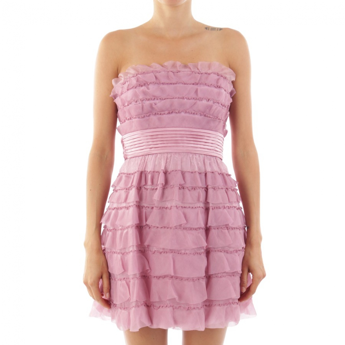 Bcbg Max Azria \N Pink Silk dress for Women 34 FR