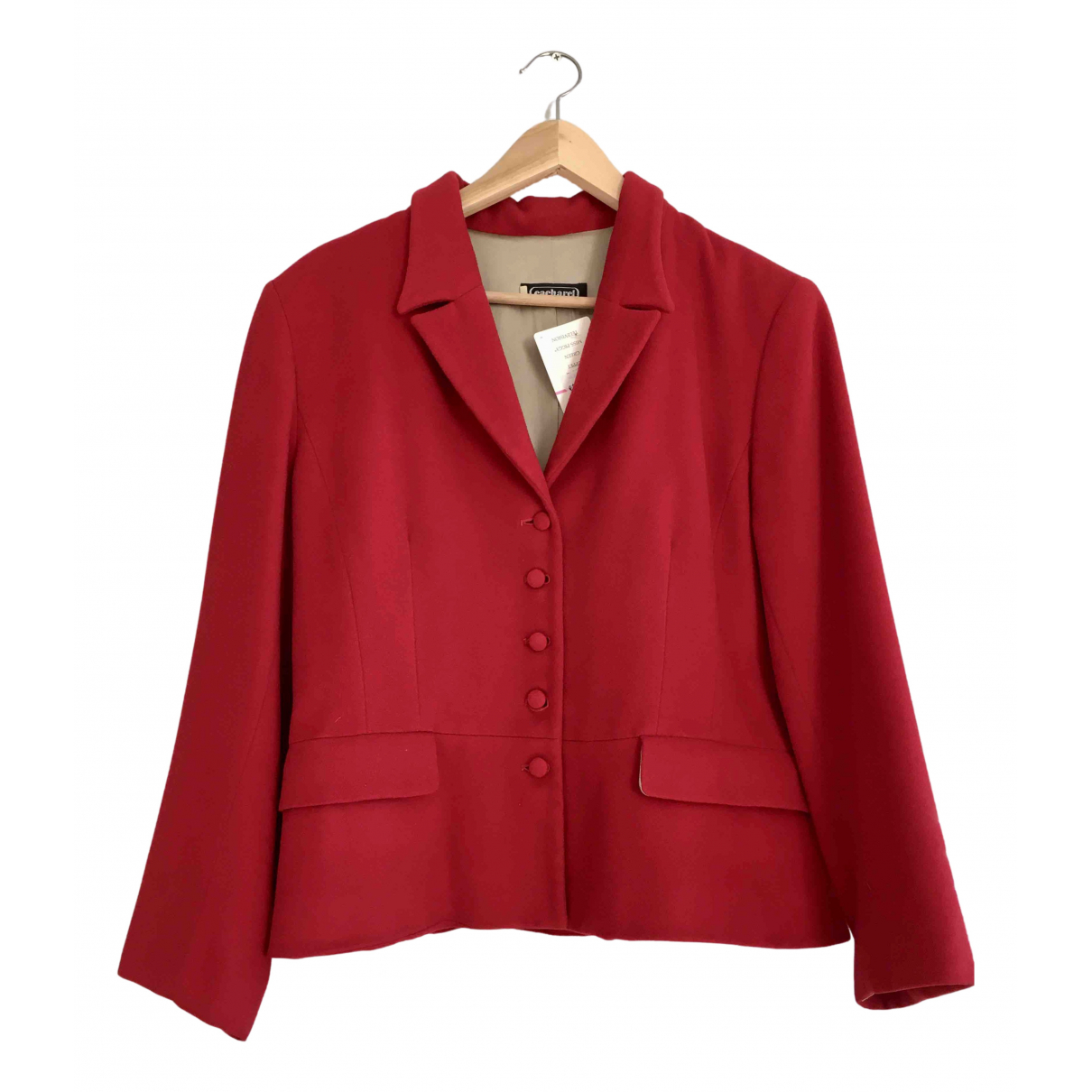 Cacharel N Red Cashmere jacket for Women 44 FR