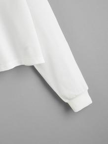 Rabbit Print Drop Shoulder Pullover