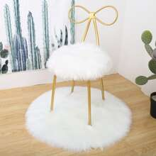 2pcs Solid Faux Fur Carpet