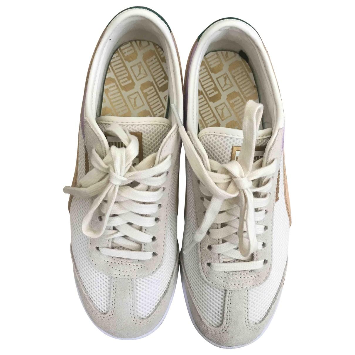 Puma \N Sneakers in  Beige Polyester