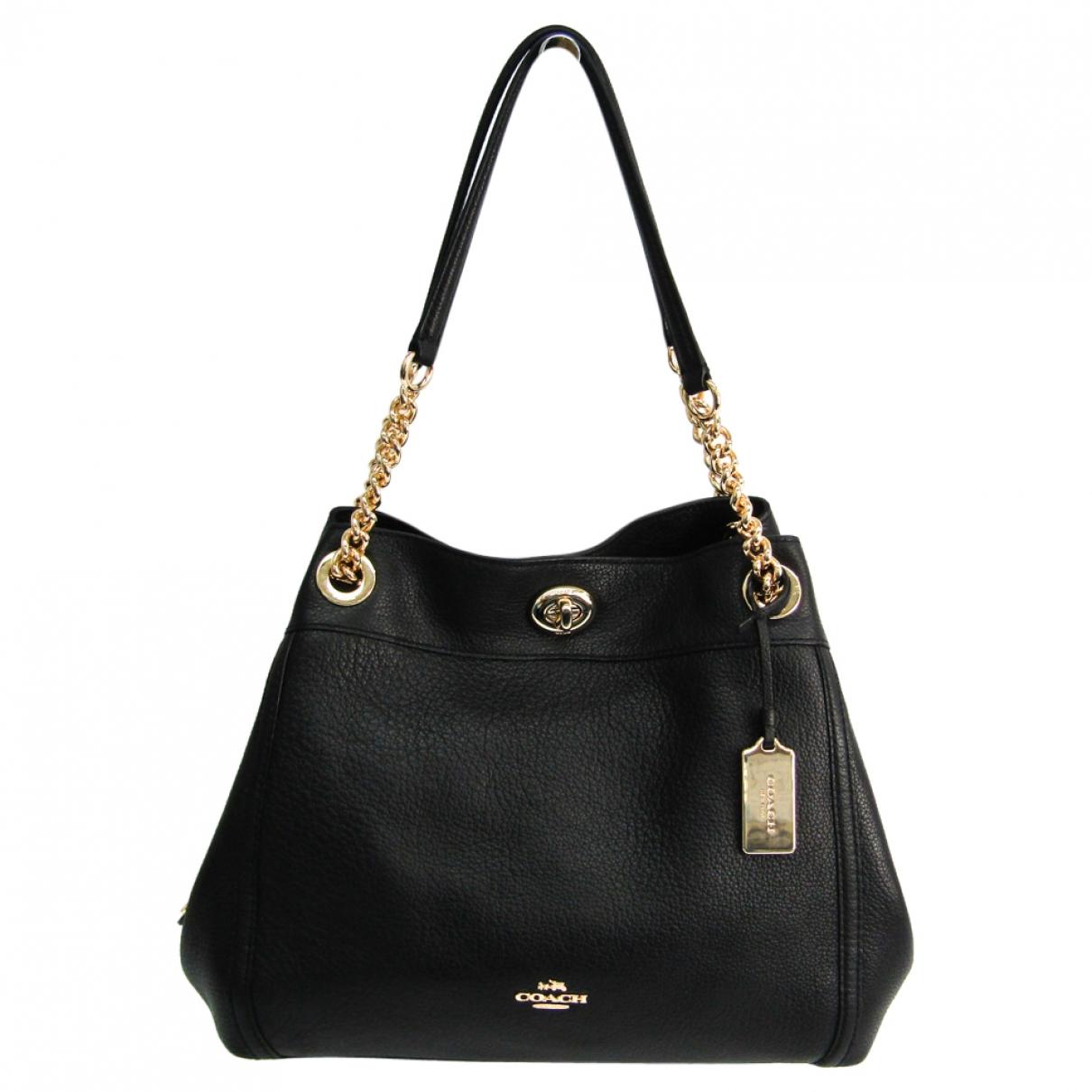 Coach Edie Black Leather handbag for Women \N