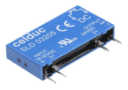 Celduc 4 A Solid State Relay, PCB Mount, 32 V Maximum Load