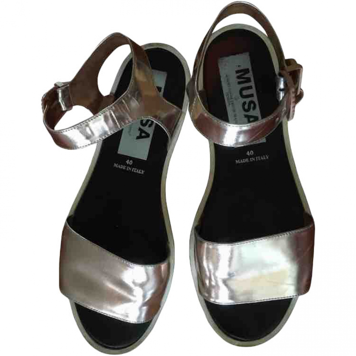 Musa \N Silver Patent leather Sandals for Women 40 EU