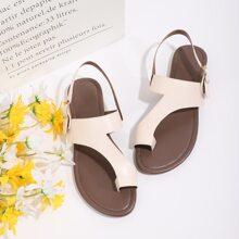 Toe Post Slingback Sandals