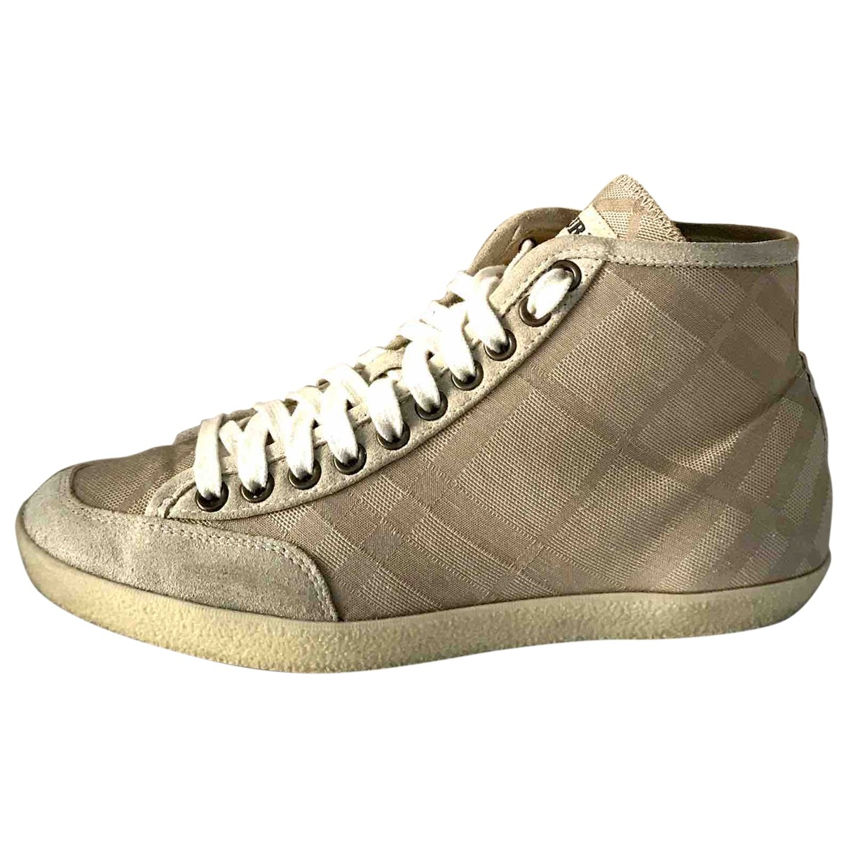 Burberry \N Beige Cloth Trainers for Women 36 EU