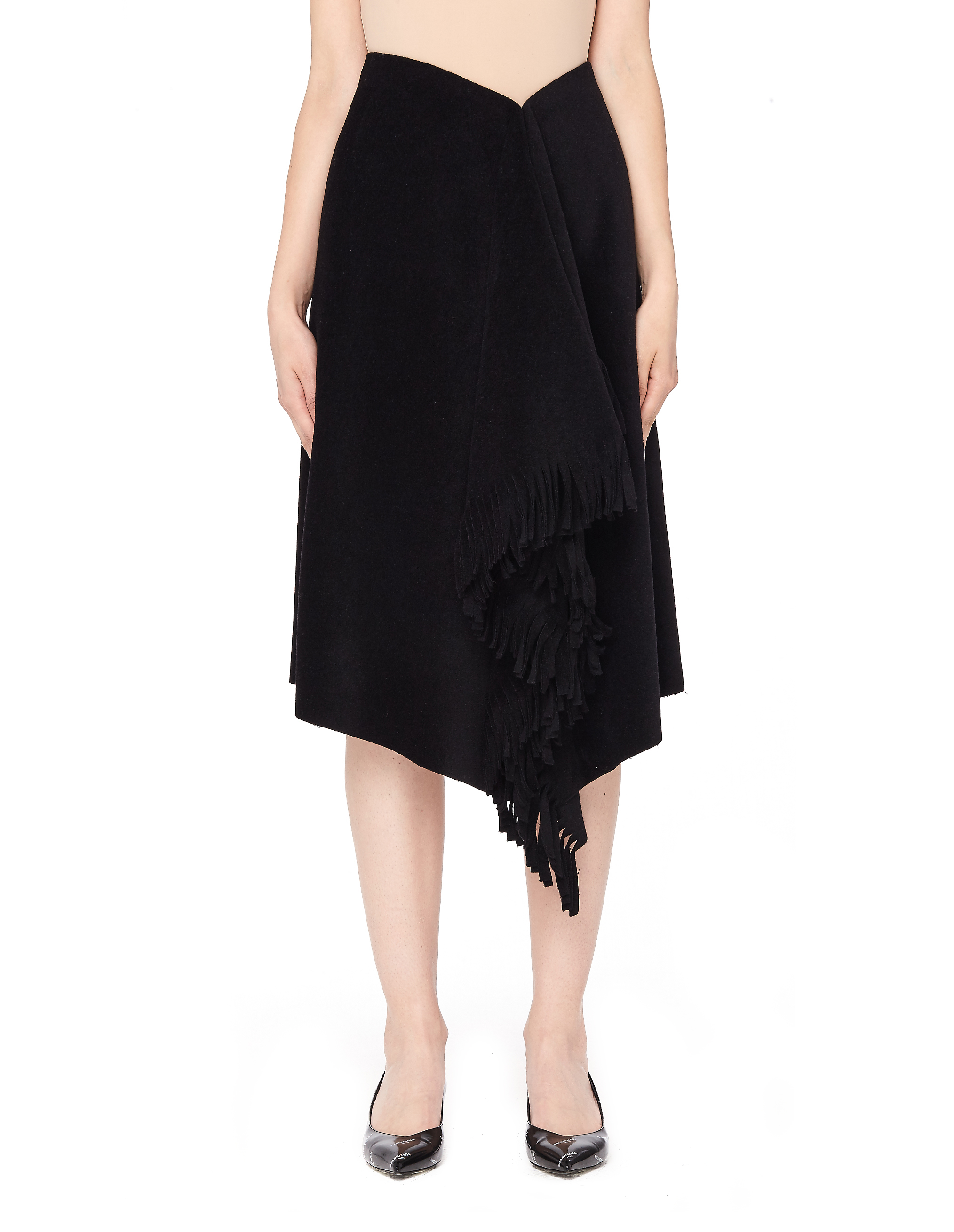 Balenciaga Black Fringe Skirt