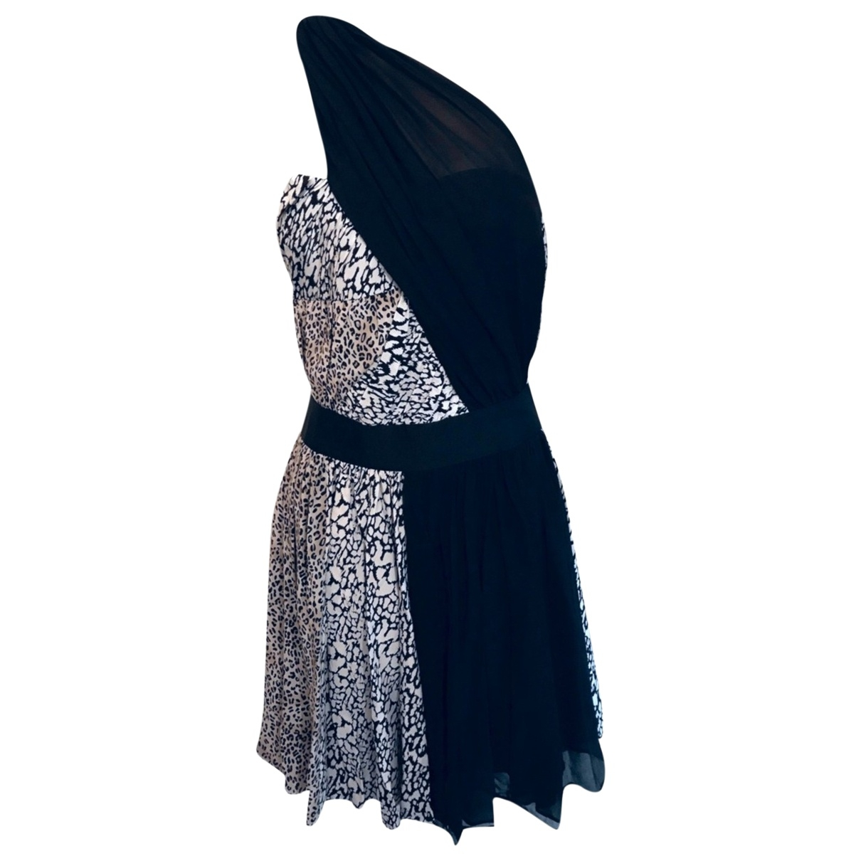 Reiss - Robe   pour femme en soie - noir