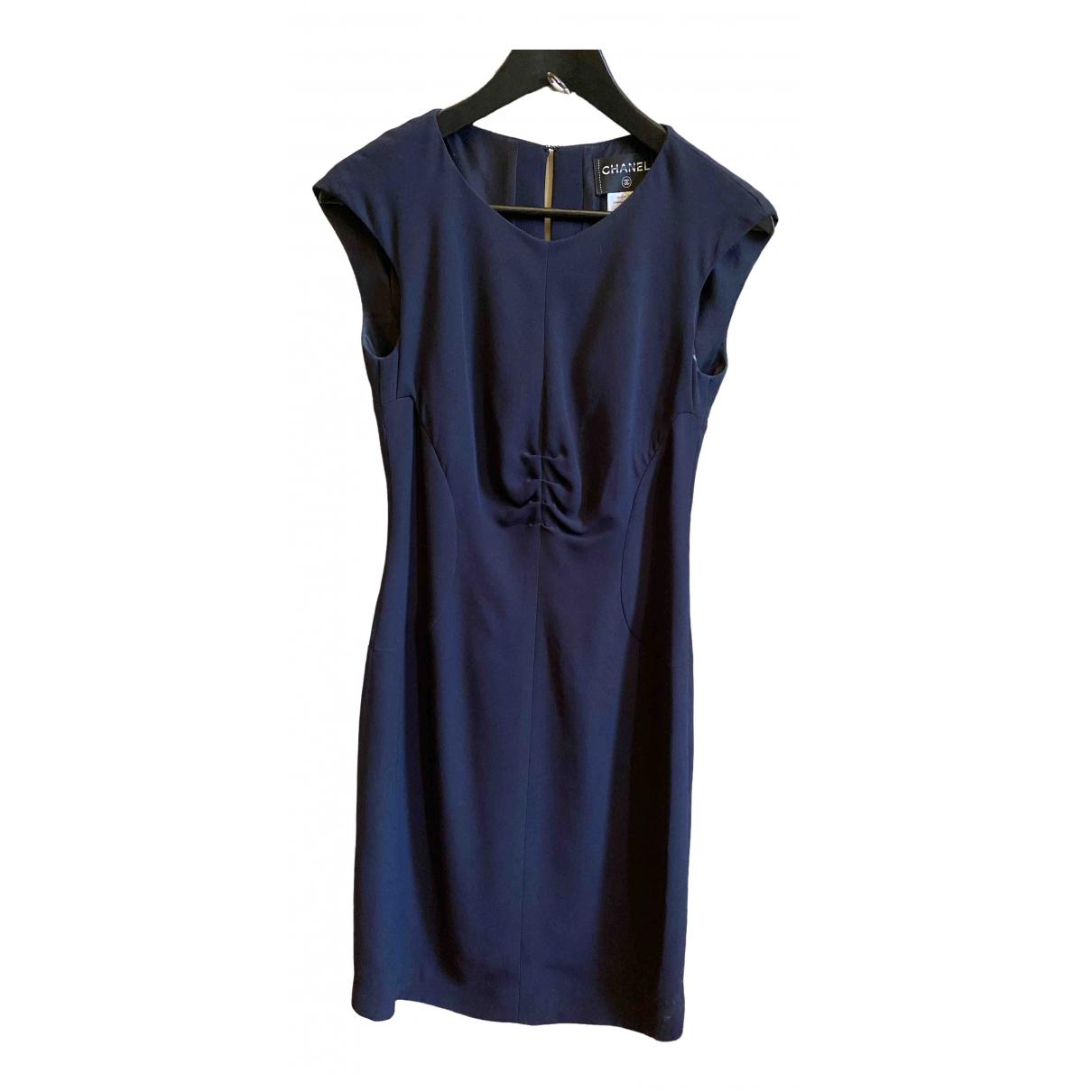 Chanel \N Navy Silk dress for Women 38 FR
