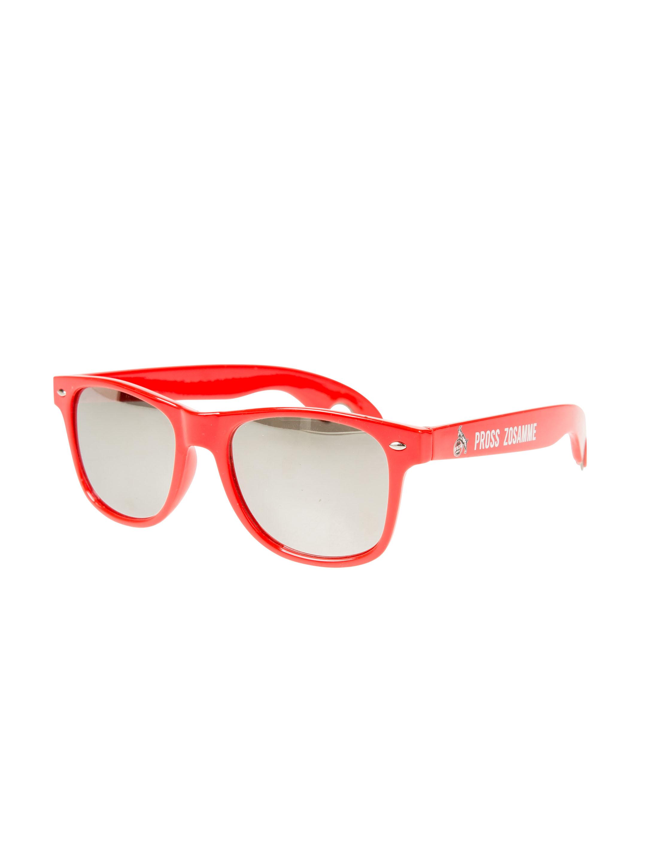 Kostuemzubehor Brille mit Flaschenoffner 1. FC Koln Farbe: rot